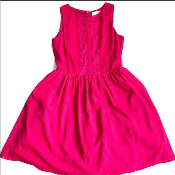 Jessica Simpson lace pink dress fit flare size 6